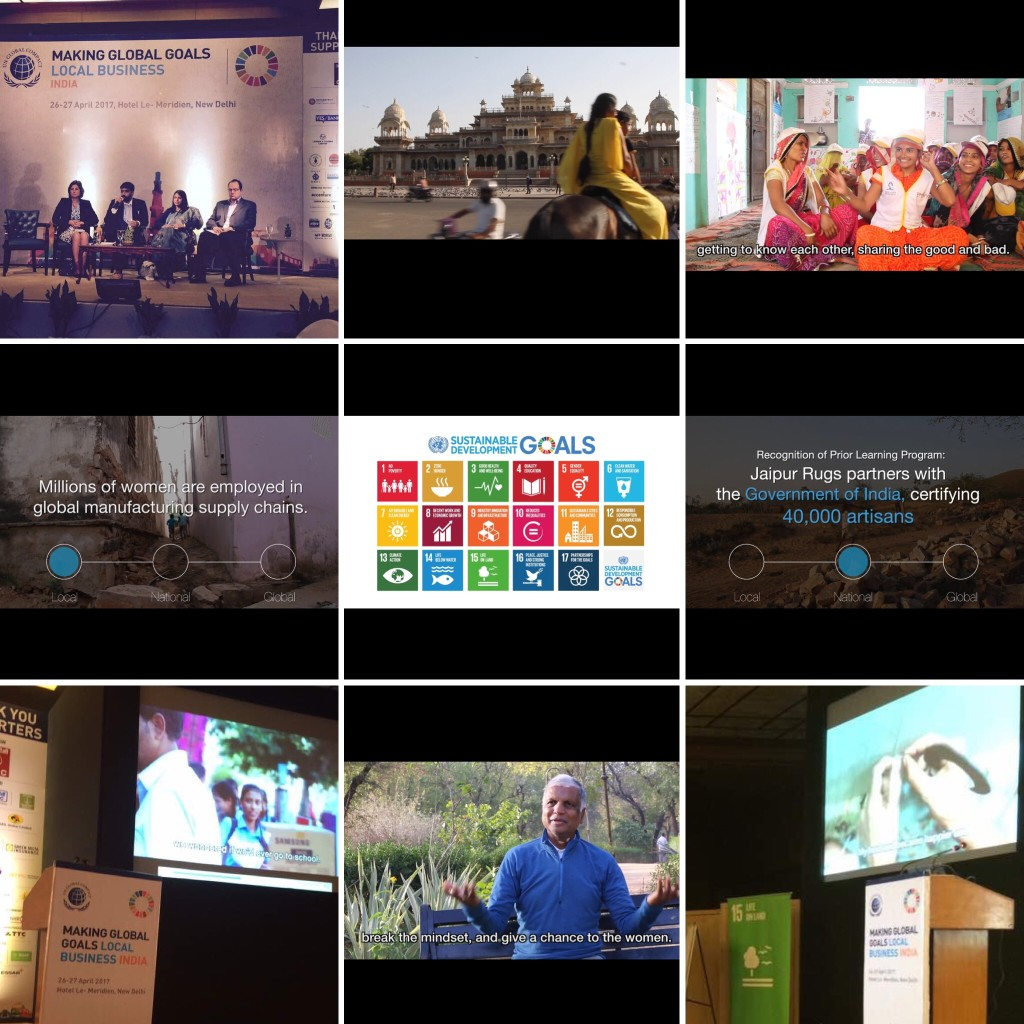 Jaipur Rugs Foundation and impactmania's video was featured at the United Nations (UN) Global Compact Conference, April 2017.